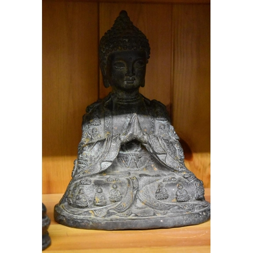615 - <strong>A group of six various figures</strong>, comprising: an Indian bronze of Indra and Erawan, 1...