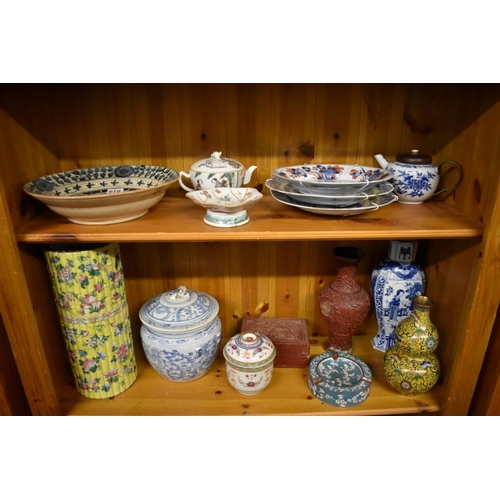 619 - <strong>A mixed group of Chinese porcelain and works of art,</strong> <em>18th century and later</em...