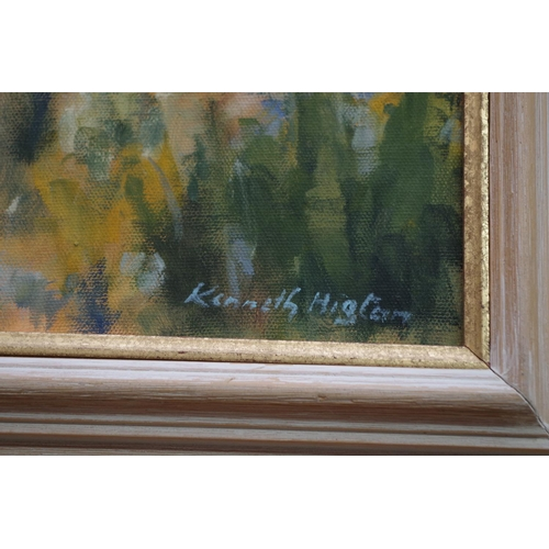 1145 - <strong>Kenneth Higton,</strong> 'The Matterhorn', signed, oil on canvas, 48.5 x 58cm. ...