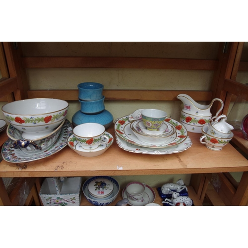 1165 - <strong>A collection of 19th century and later pottery and porcelain.   </strong>...