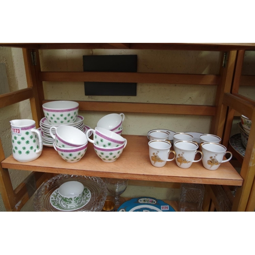 1173 - <strong>A Foley 'Graham Sutherland' part tea set;</strong> together with a set of six German porcela...