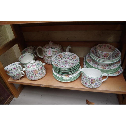 1176 - <strong>A Minton 'Haddon Hall' pattern part tea service. </strong>...