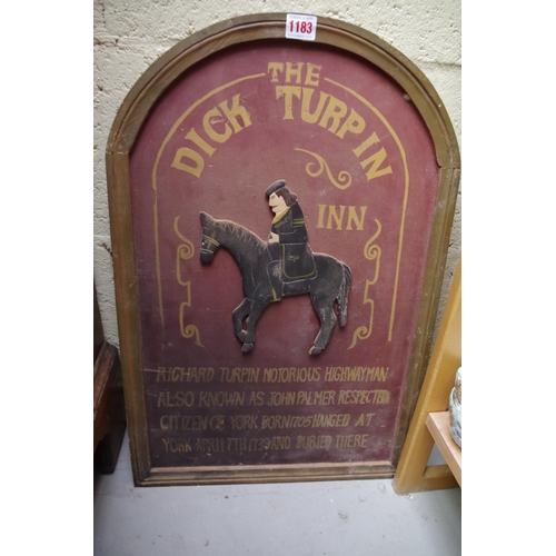 1183 - <strong>A painted and carved wood 'Dick Turpin' sign, </strong>60cm high....