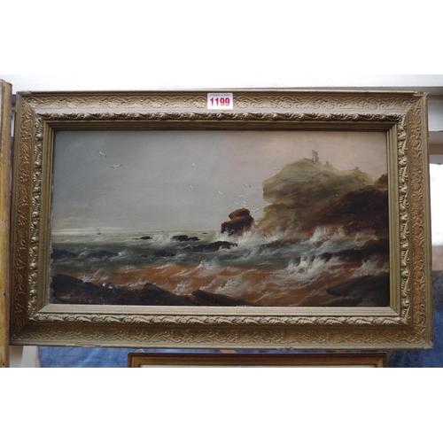 1199 - <strong>Attributed to Sarah Louise Kilpatrick,</strong> a coastal scene, unsigned, oil on board...