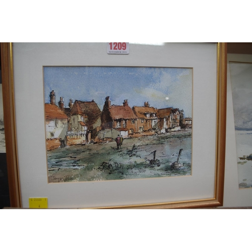 1209 - <strong>Joyce Tho..., </strong>'Bosham', indistinctly signed, watercolour, 16.5 x 21.5cm.  &nbs...