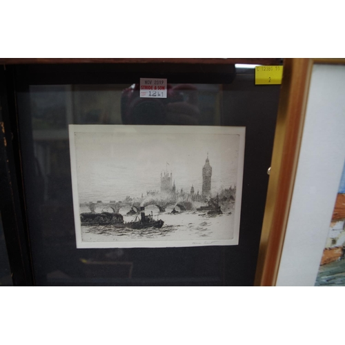 1211 - <strong>James Grant,</strong>Thames scenes, a pair, each signed in pencil, etching, pl.10.5 x ...