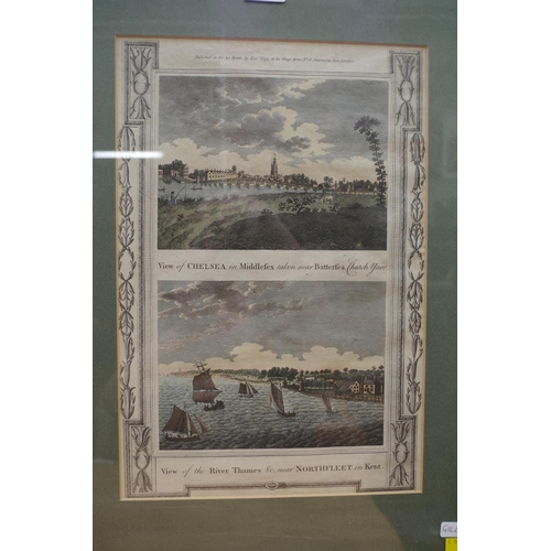 1251 - <strong>Published by Alexander Hogg, </strong>two engraved views of The Thames, each image 12.5 x 17...