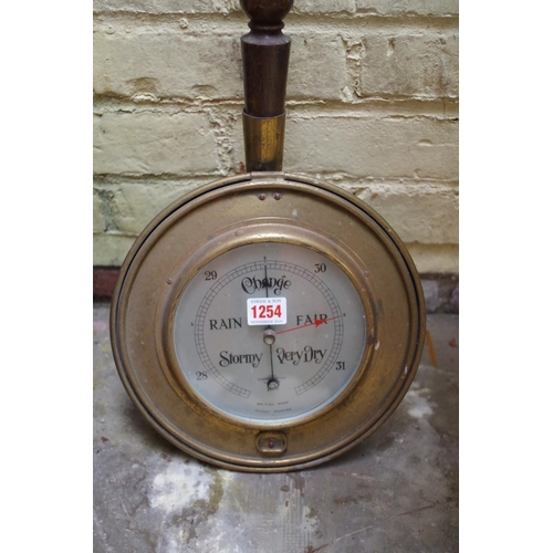 1254 - <strong>A novelty warming pan barometer. </strong>...