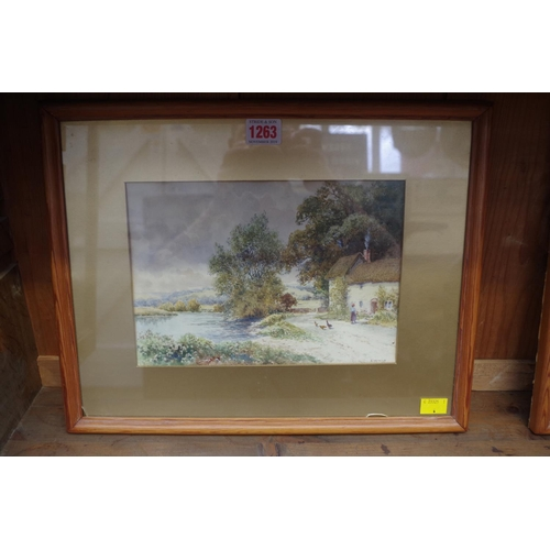 1263 - <strong>A Mills,</strong> rural scenes, a pair, each signed, watercolour, 17.5 x 25cm. ...