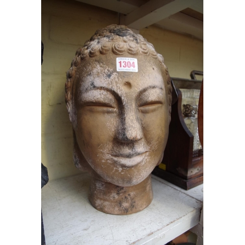 1304 - <strong>A terracotta bust of a South East Asian Bodhisattva, </strong>35cm high. ...