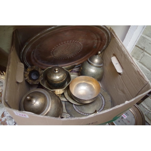 1328 - <strong>A collection of Eastern brassware.</strong>...