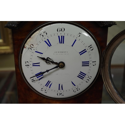 1378 - <strong>A Louis XVI style tortoiseshell and electroplate mounted mantel timepiece,</strong>29c...