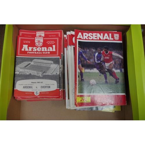 1379 - <strong>Football programmes:</strong> Arsenal, circa 1955/6 - 1992/93. (175)...