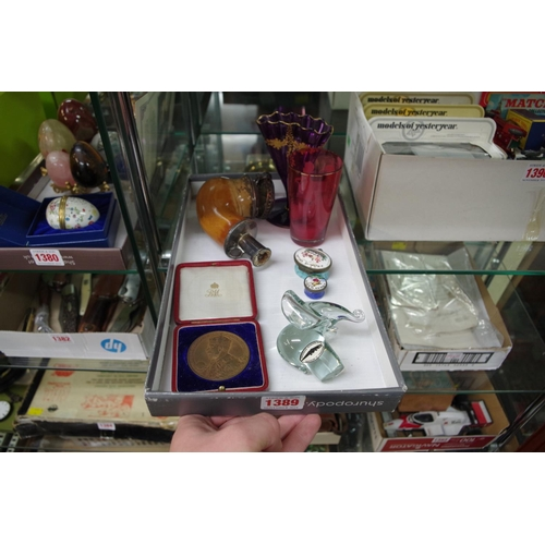 1389 - <strong>A mixed lot,</strong>to include a silver mounted meerschaum pipe; and a 1911 coronation med...