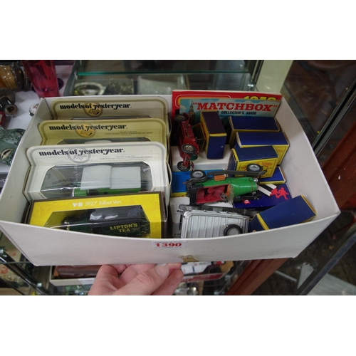 1390 - <strong>A collection of Matchbox and other similar vehicles,</strong>most boxed, to include: No.33 ...