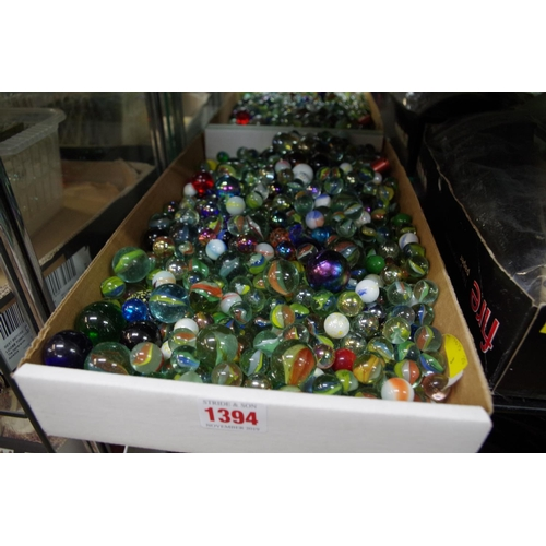 1394 - <strong>A large collection of glass marbles.</strong>  ...