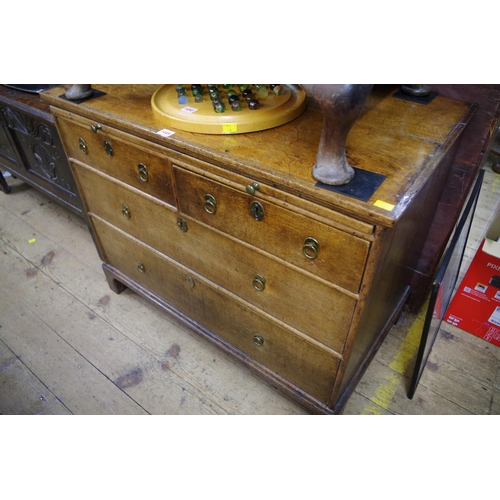 1449 - <strong>An 18th century oak chest of drawers, </strong>94cm wide....