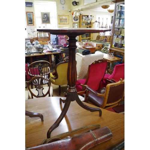 1497 - <strong>A pair of Regency style mahogany octagonal tripod tables,</strong>41.5cm wide....
