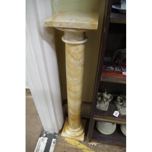 1525 - <strong>A marble pedestal,</strong>104.5cm high....