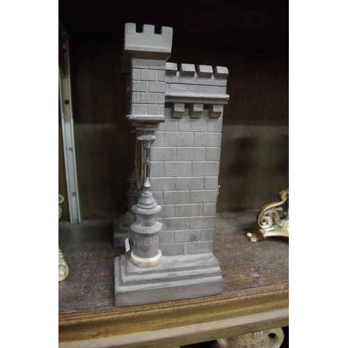 1542 - <strong>A novelty Continental castle form clock,</strong>26cm high....