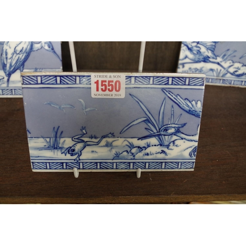 1550 - <strong>A set of three Victorian Minton & Hollins 'Walter Crane' frieze tiles,</strong>each 10 ...