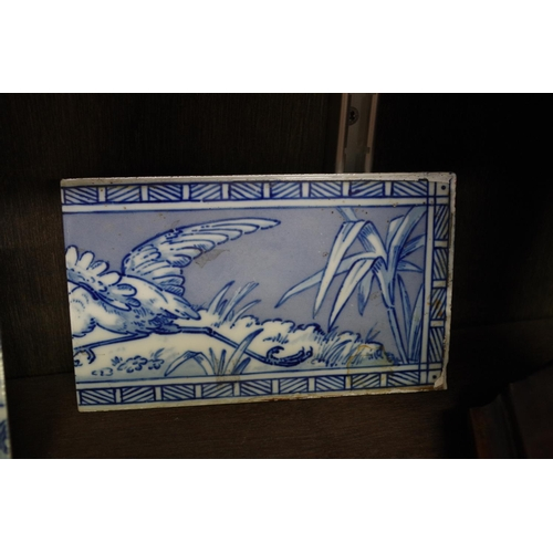 1550 - <strong>A set of three Victorian Minton & Hollins 'Walter Crane' frieze tiles,</strong> each 10 ...