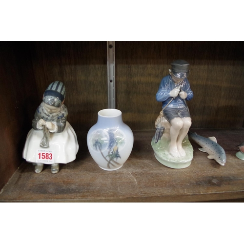 1583 - <strong>Seven Royal Copenhagen items,</strong>largest 18.5cm high.<strong></strong...