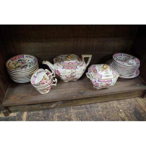 1584 - <strong>A 19th century Spode part tea service.</strong>...