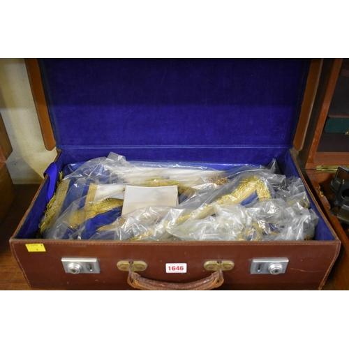 1646 - <strong>A case of Masonic regalia.</strong>...