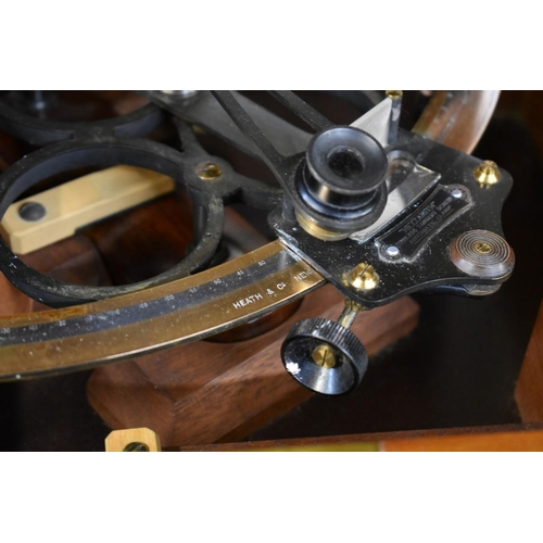 1647 - <strong>An old Hezzanith sextant</strong>, in fitted mahogany box....