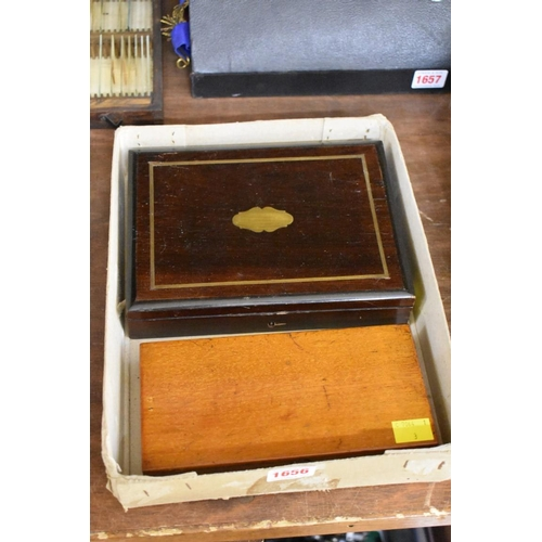 1656 - <strong>Two old artist's paint boxes.</strong>...