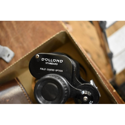 1658 - <strong>A pair of Dollond 10x50 binoculars,</strong> in leather case....