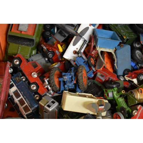 1674 - <strong>A collection of Corgi, Dinky, and other similar diecast vehicles, </strong>(most play worn)....