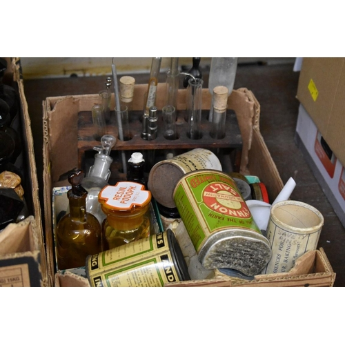 1679 - <strong>A collection of glass apothecary bottles and other related items.</strong>...