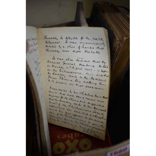 1680 - <strong>A collection of ephemera,</strong>comprising: vintage photograph albums, including one...
