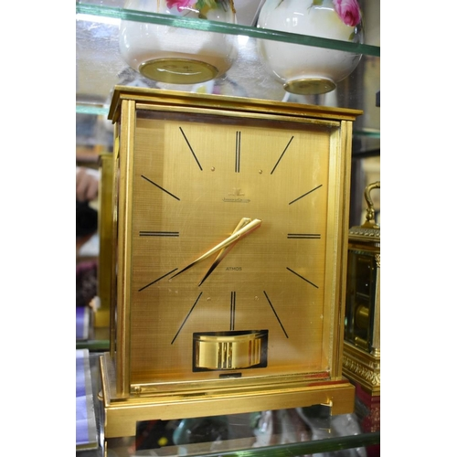 1690 - <strong>A Jaeger Le Coultre Atmos VII Embassy clock,</strong> in original fitted case, 22cm high....