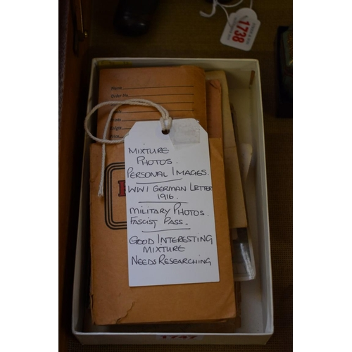 1747 - <strong>An interesting collection of World War I and World War II ephemera,</strong>to include...