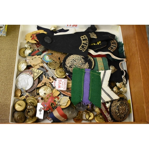 1750 - <strong>A collection of military buttons and badges;</strong>and others....