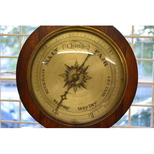 1779 - <strong>Two 19th century rosewood five dial banjo barometers,</strong>(one a.f.)....