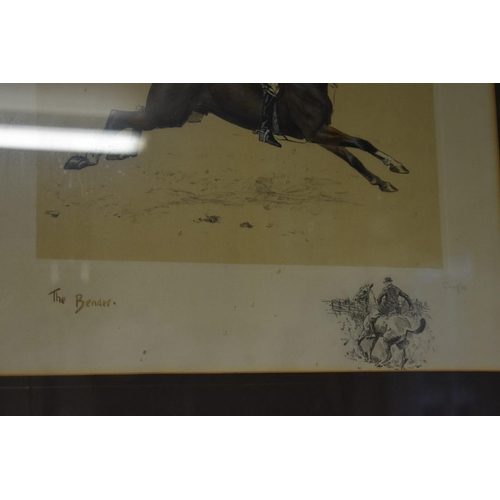 1784 - <strong>Charles Johnson Payne (Snaffles)</strong>, 'ansome is - wot 'ansome does', signed in pencil,...