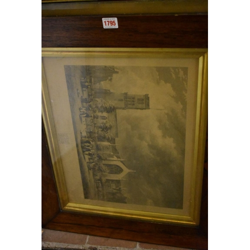 1795 - <strong>Seven Victorian frames,</strong>comprising, six bird's eye examples and a rosewood exa...