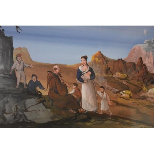 1800 - <strong>Neapolitan School,</strong>'The Bay of Naples', gouache, I.46.5 x 68cm....
