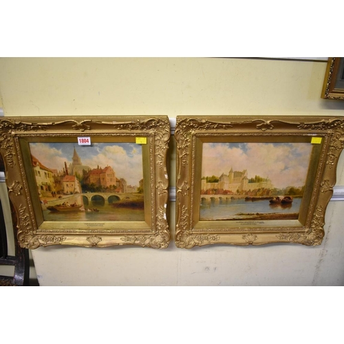 1804 - <strong>Arthur Meadows,</strong>'Perigueux'; 'Chateau d'Arnboise', a pair, each signed, titled and ...