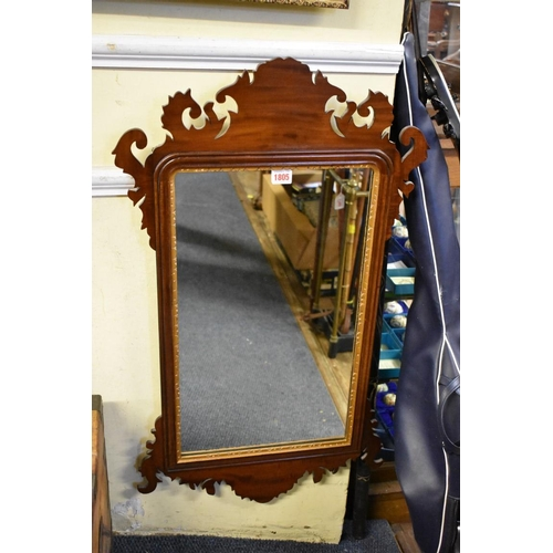 1805 - <strong>A mahogany fret framed wall mirror,</strong>85 x 49.5cm....