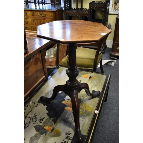 1809 - <strong>An antique mahogany octagonal tripod table,</strong>42cm wide....