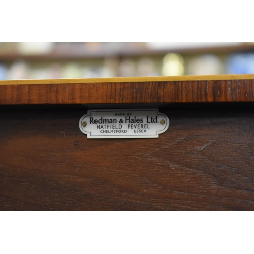 1816 - <strong>A good reproduction mahogany, rosewood crossbanded and line inlaid serpentine fronted side t...