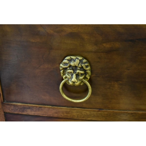 1817 - <strong>A good reproduction mahogany and ebony strung bowfront sideboard,</strong>by Redman & H...