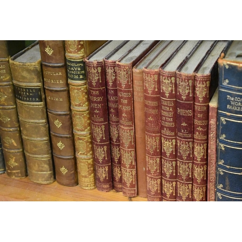 1830 - <strong>Books: </strong>a small collection of leather bindings and others....