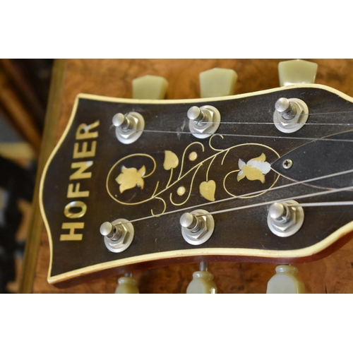 1842 - <strong>A Hofner Verithin Bigsby electric guitar.</strong>...