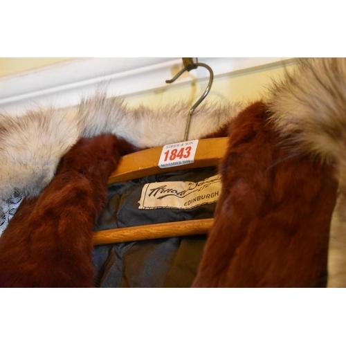 1843 - <strong>Two vintage fur coats,</strong>one labelled Arnold Seftor, Edinburgh....